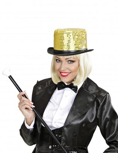 Goudkleurige hoge hoed met lovertjes voor volwassenen-2