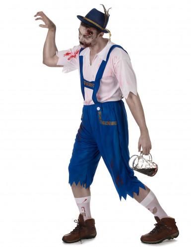 Blauw Beiers zombie kostuum voor mannen-1