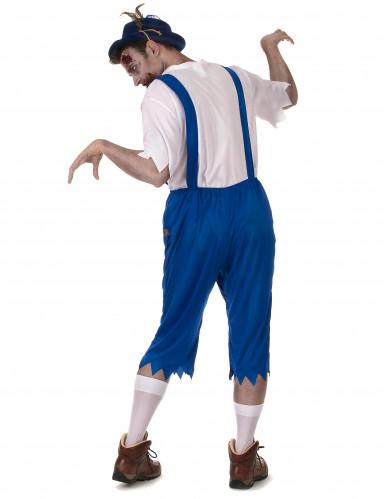 Blauw Beiers zombie kostuum voor mannen-2