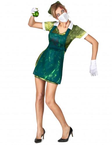 Radioactieve verpleegster kostuum voor vrouwen