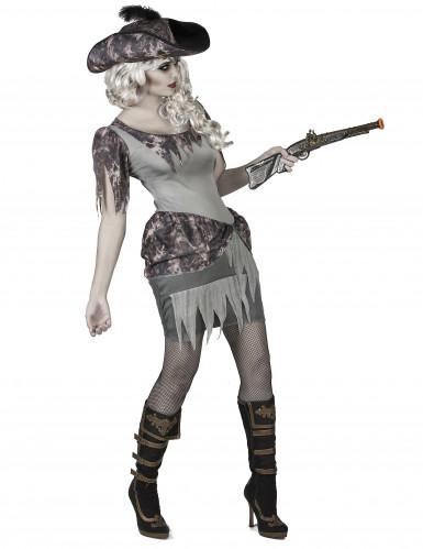 Grijs spook piraat kostuum voor vrouwen-1