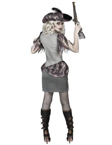 Grijs spook piraat kostuum voor vrouwen-2