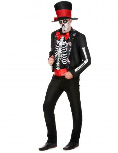 Día de los Muertos skelet outfit voor mannen-1
