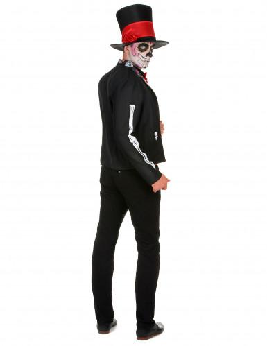 Día de los Muertos skelet outfit voor mannen-2