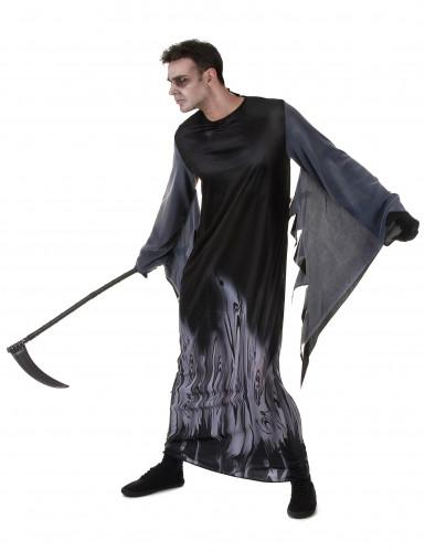 Zwart zielen reaper kostuum voor mannen-1