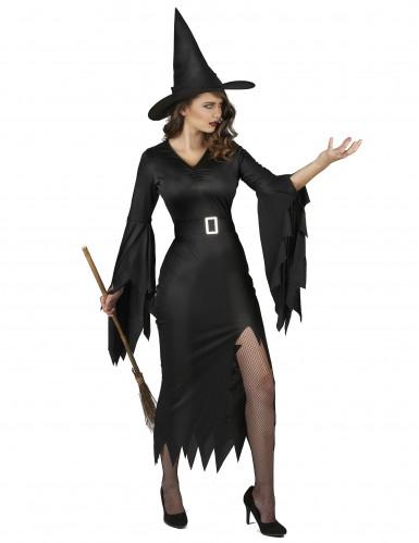 Sexy zwart heksenkostuum voor vrouwen-1