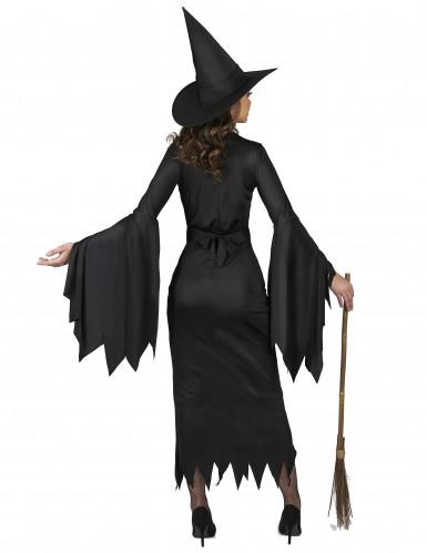 Sexy zwart heksenkostuum voor vrouwen-2