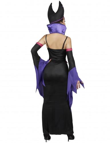 Paarse boosaardige heks kostuum voor vrouwen-2
