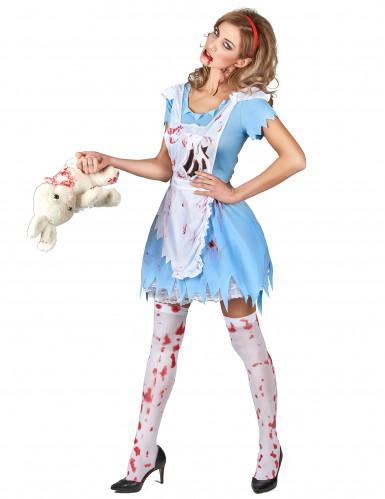 Bloederig Alice kostuum voor vrouwen-1