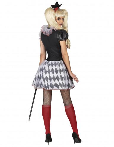 Rood en zwart harlekijn joker kostuum voor vrouwen-2