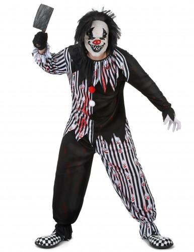 Psychopatische clown kostuum voor mannen-1