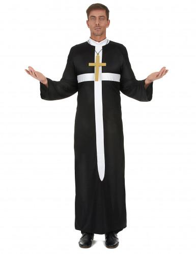 Wit kruis priester kostuum voor mannen