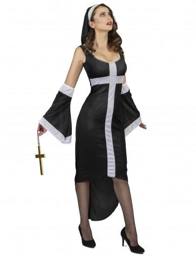 Sexy wit kruis nonnenkostuum voor vrouwen-1