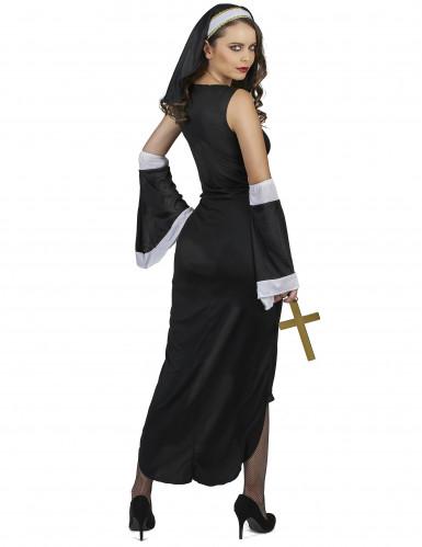 Sexy wit kruis nonnenkostuum voor vrouwen-2