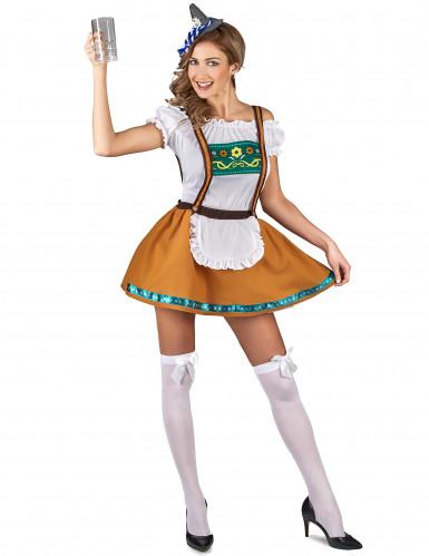 Bruin Tiroler jurkje voor vrouwen