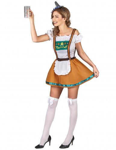 Bruin Tiroler jurkje voor vrouwen-1