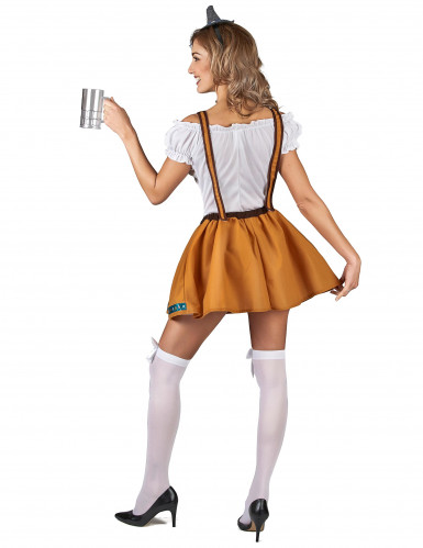 Bruin Tiroler jurkje voor vrouwen-2