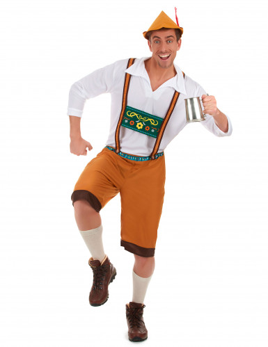 Bruin Beiers kostuum voor mannen-1