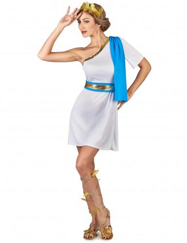 Blauw Griekse keizerin kostuum voor vrouwen