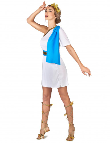 Blauw Griekse keizerin kostuum voor vrouwen-1