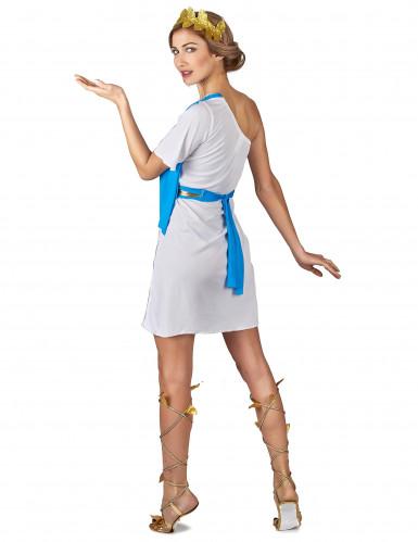 Blauw Griekse keizerin kostuum voor vrouwen-2
