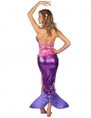 Roze zeemeermin kostuum voor vrouwen-2