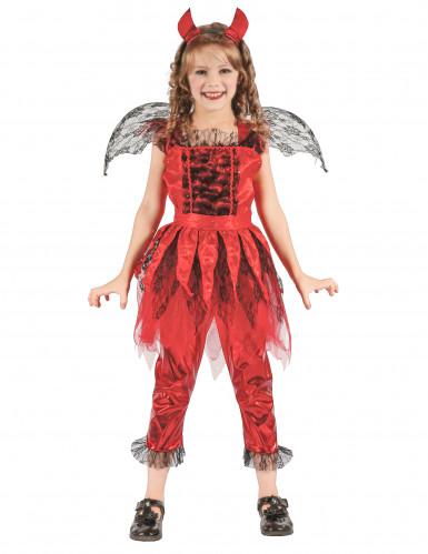 Vurige duivel kostuum voor meisjes