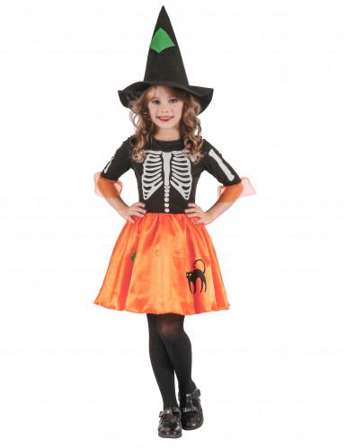 Skelet heksenkostuum voor meisjes
