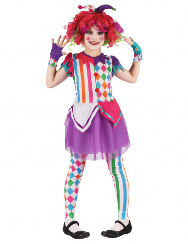 Kleurrijk harlekijn kostuum voor meisjes