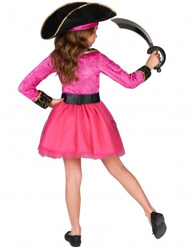 Roze en goudkleurig piraten kostuum voor meisjes-2