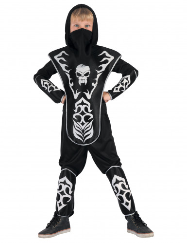 Doodshoofd ninja kostuum voor jongens