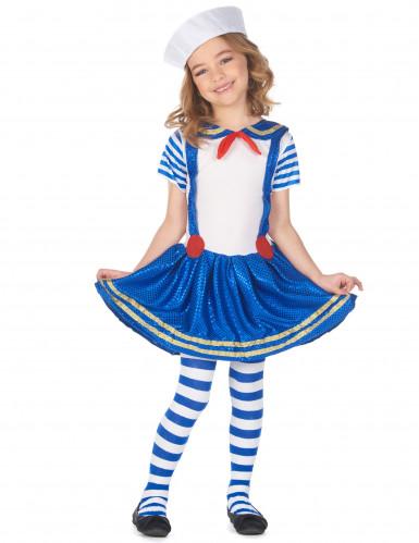 Glanzend matrozen kostuum voor meisjes
