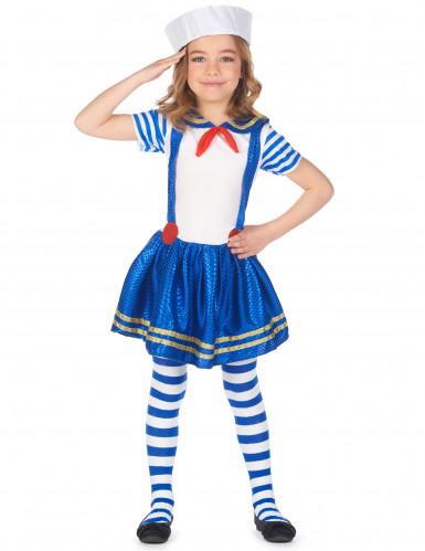 Glanzend matrozen kostuum voor meisjes-1