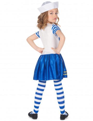 Glanzend matrozen kostuum voor meisjes-2