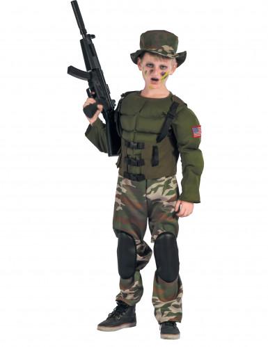 Gespierd Amerikaans soldatenkostuum voor jongens