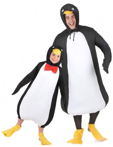 Pinguin koppelkostuum voor vader en zoon