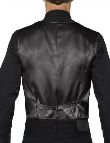 Zwarte vest met lovertjes voor volwassenen-1