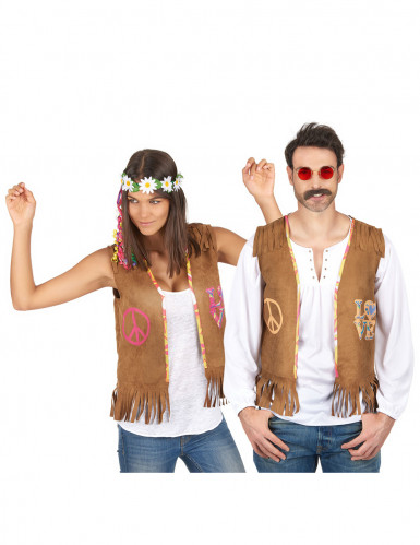 Hippie gilet koppelkostuum