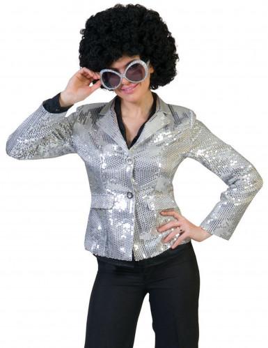 Luxe zilverkleurig disco jasje voor vrouwen