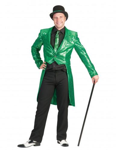 Groene slipjas met glitters voor heren
