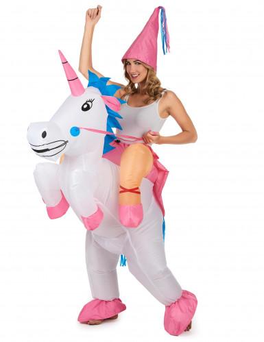 Prinses op eenhoorn kostuum voor volwassenen