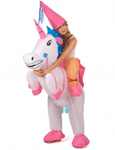 Prinses op eenhoorn kostuum voor volwassenen-1