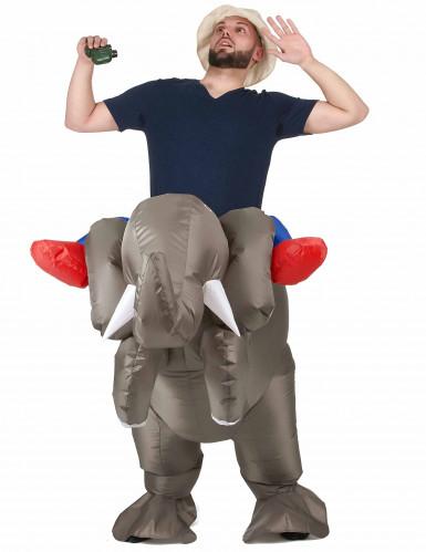 Opblaasbaar olifant kostuum voor volwassenen-1