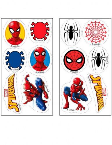 12 mini Spiderman™ suikerschijven