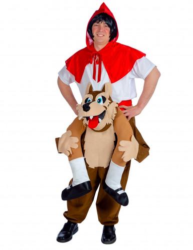 Roodkapje op wolf kostuum voor volwassenen