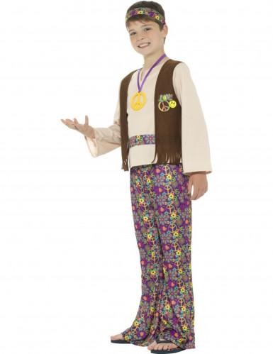 Hippie peace kostuum voor jongens-2