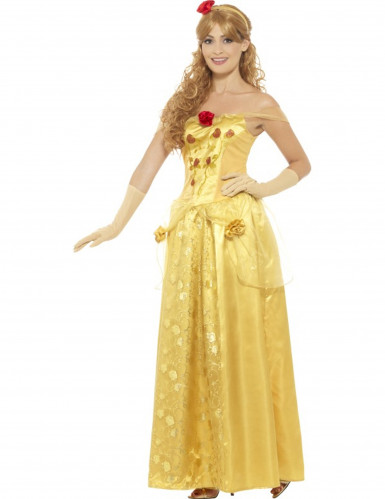 Geel droom prinses kostuum voor vrouwen-1