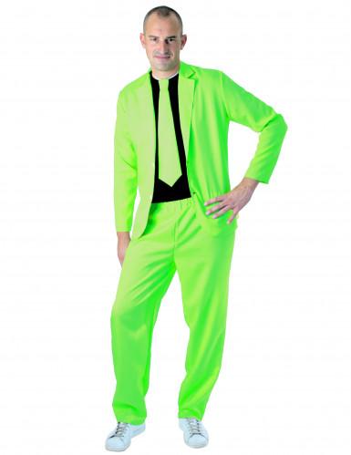 Fluo groen fashion kostuum voor volwassenen