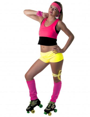 Fluo gele mini short voor vrouwen