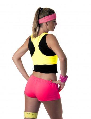 Fluo roze shorty voor vrouwen